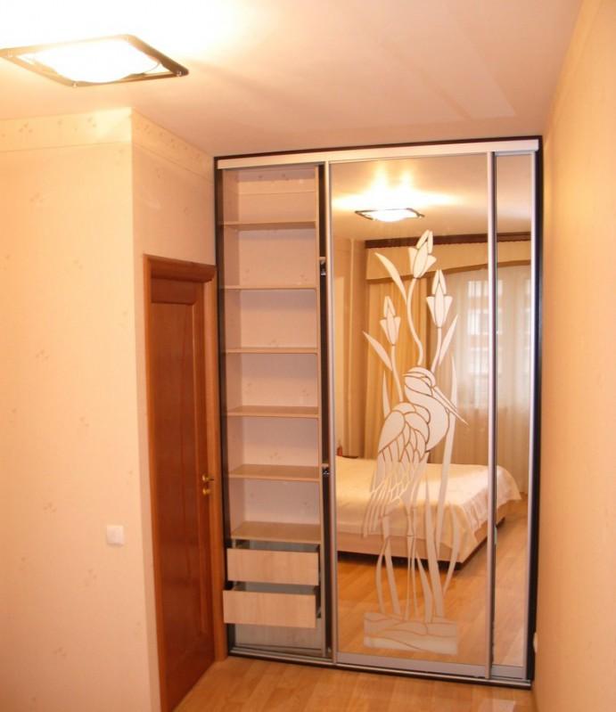 Шкаф купе встроенный 2х дверный с рисунком - мебель и предме.